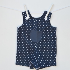 SAMPLE SALE - Size 6 months only, navy short romper