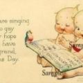 Vintage Christmas  9 x Gift Tags Cards Kewpies  - Digital Download