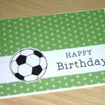 Kids Happy Birthday card - soccer or basketball