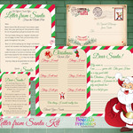 Printable Santa Letter Pack - Letter to Santa - DIY Santa Letter Kit for Kids