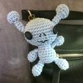 Little Blue Alien Bag Tag or Keyring Cutie