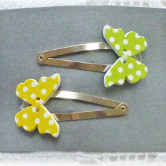 Free post.  Butterfly hair clips:  set of 2.