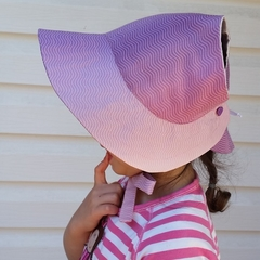 Adjustable Baby Sun Bonnet - Shades of pink