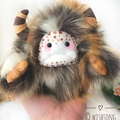 "Yeti plush artist bear, monster plush, animal print yeti ""Buckley"""