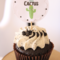 Cactus Cupcake Toppers Set of 12