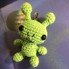 Little Green Alien Keyring Cutie, Bag or Luggage I.D.