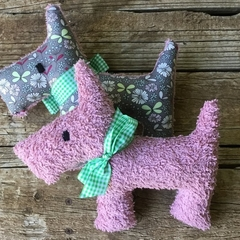 Tilly Upcycled  Vintage Chenille Scotty Dog