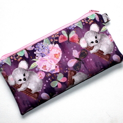 Pencil Case in Cute Koala Fabric