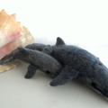 Needle felted Minke whale, felt baby whale, marine home decor