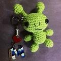 Little Green Alien Keyring Cutie, Bag or Luggage I.D.