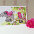 Greeting card set, Australian birds 5 x 7 inches.