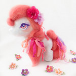 "Pony art doll, OOAK horse plush, art sculpture ""Carnivale"""