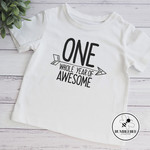 1st Birthday Celebration T shirt One Whole Year of Awesome Top tshirt