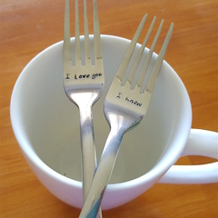 I Love You Fork, Stamped, Wedding,Bride, Groom,Gift,Husband, Wife,Anniversary