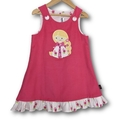 GIRLS Corduroy Applique Embroidered Pinafores - In a range of Sizes and Colours