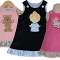 BABY Corduroy Embroidered Pinafores - A Range of Colours and Sizes Available