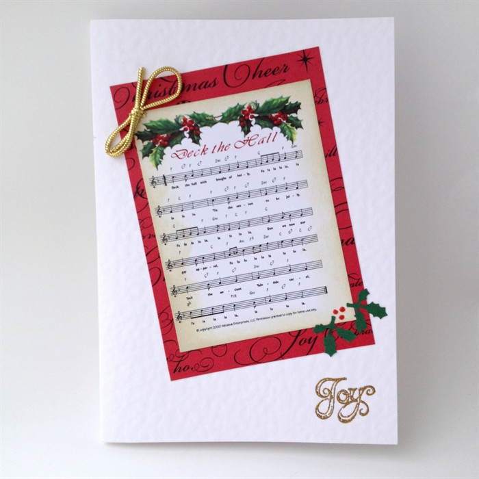 Christmas Card - Music \'Deck The Halls\' | Cards Made by Karen ...