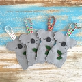 Sleepy koala Christmas decoration, Australian animal, grey, Aussie