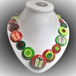 Button necklace - Christmas Gifts