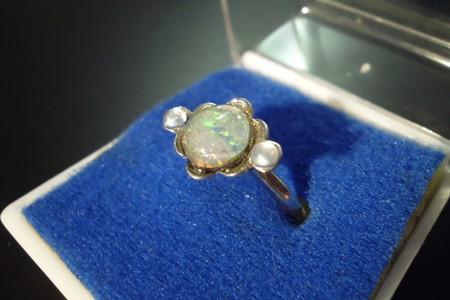 Item 11: Opal & Rhinestone Ring