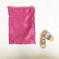 Ballet dance shoe bag / book bag -vintage chenille ballerina print FREE POST