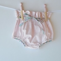 Pastel high waisted shorts with liberty waist tie, sizes 3 months to 3 years