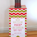 Christmas Wine Bottle Tags - fill in your name, add wine and gift!