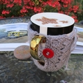 Grey mug cozy, coffee cosy, cup warmer, Christmas birthday, teacher gift, unisex
