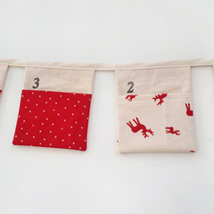 Advent Christmas Calendar Fabric Bunting