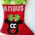 Personalised Character Stocking - small name (up to 4 letters)