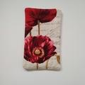 Tissue Holder Pouch - Red Poppy - Handbag Accessory - Gift for Her