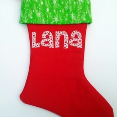 Personalised Christmas Stocking - small name (up to 4 letters)