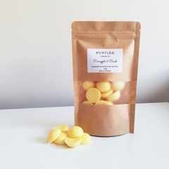 LIMITED EDITION Pineapple & Peach Scented 100g 100% Soy Wax Melts, semicircle