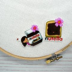 Interchangeable Nutella Magnetic Needle Minder, Needle Nanny, Cross Stitch, Embr