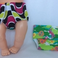 Doll Nappy - set of 2
