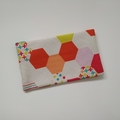 Tissue Holder Pouch - Bright Retro Hexagon - Bag Accessory - Practical Gift