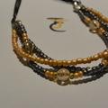 Tania - Three strand beaded necklace
