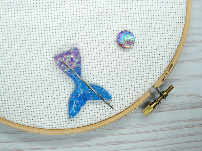 Mermaid Tail Magnetic Needle Minder, Needle Nanny, Cross Stitch