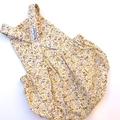 """""""Lemon floral"""" Romper size 000"""