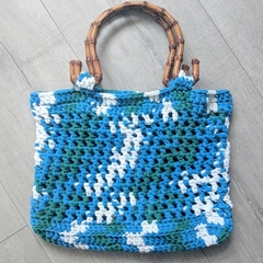 Crochet Bag - recycled t-shirt yarn