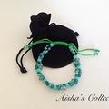 Adjustable Beaded Bracelet - Turquoise