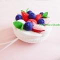 Pavlova Tooth Fairy Pillow Ornament Nursery Home Decor Strawberry Blueberry Gift