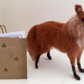 Needle felted red fox, posable felt animal, fox totem, handmade, soft art sculpt