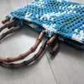 Crochet Bag - recycled t-shirt yarn