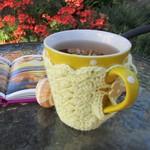 Lemon mug cozy, coffee cosy, cup warmer, Christmas, birthday, teacher gift