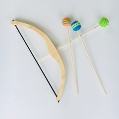 Handmade Wooden Bow & Arrow Set.