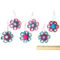 Boho Ornament Paper Raffia Floral Hanging Decoration Gift Tag Set of 6