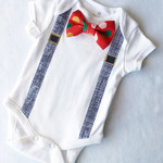 1st Christmas Baby Boy Outfit Christmas Onesie. All sizes available