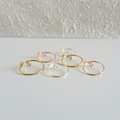 Wire midi ring set / Gold , Silver , Rose gold / Size adjustable