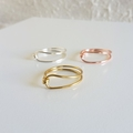 Unique Loop wire ring / Gold , Silver , Rose gold / Minimalist , Boho chic